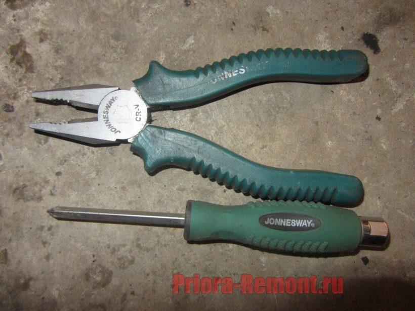 инструмент для замены внутренней ручки двери на Приоре