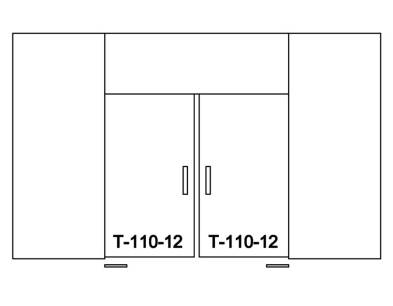 Нижний шарнир T-110-12 TP чертеж 3