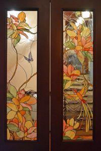Фото №3 Витражные стекла для дверей