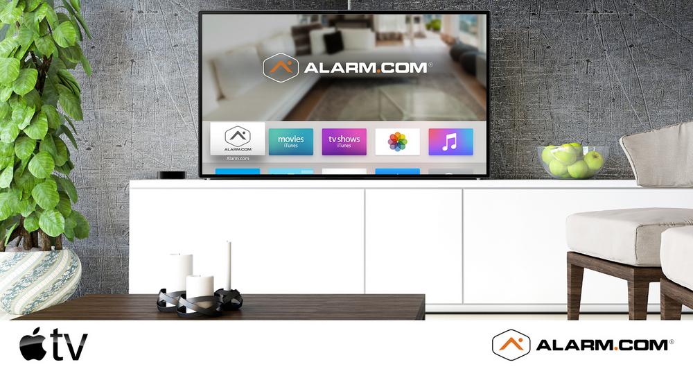 alarm com apple tv menu