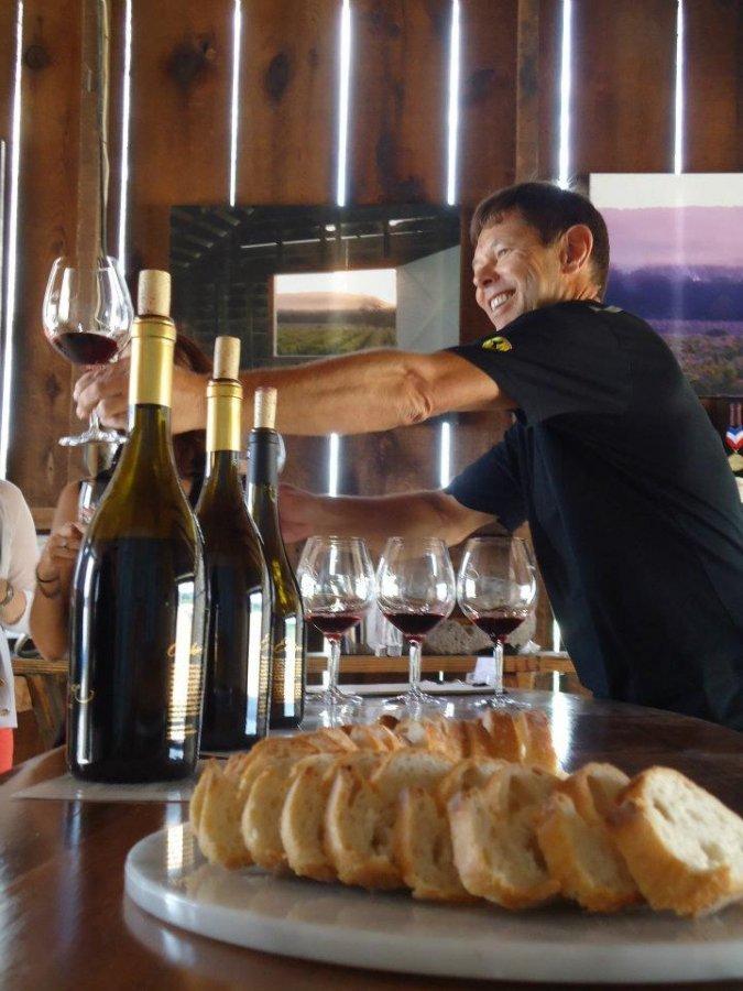 Bill Canihan Serving Wine