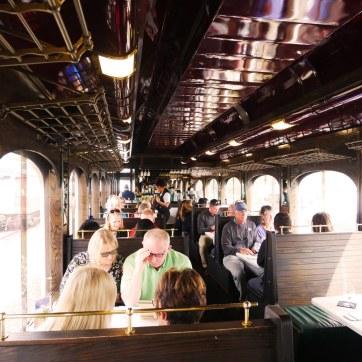 The Antique Interior of the Wine Train
