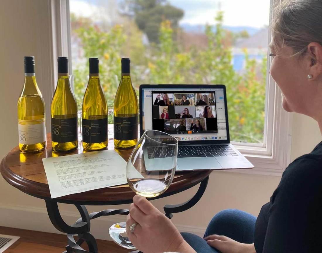 The best virtual wine tasting experience