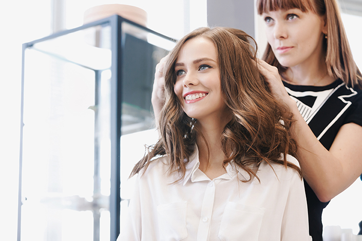 Closeup hairdresser