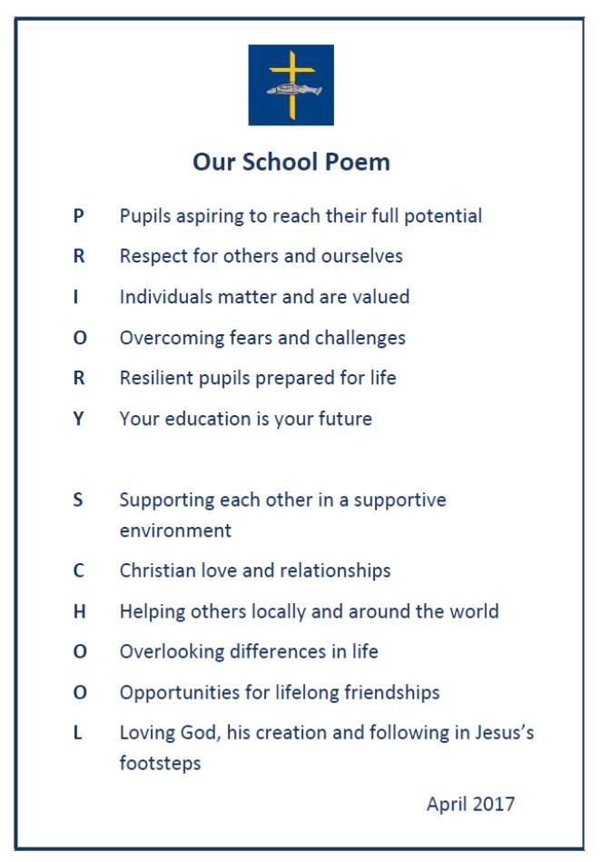 School Poem – The Priory CE (VA) Primary School