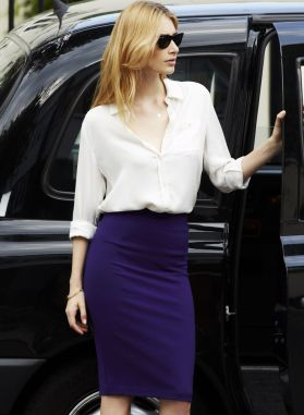 pencil-skirt-and-button-down