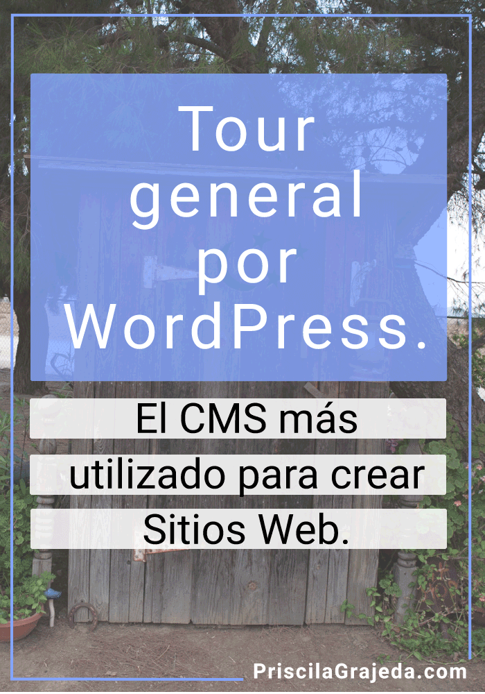 Tour general por WordPress