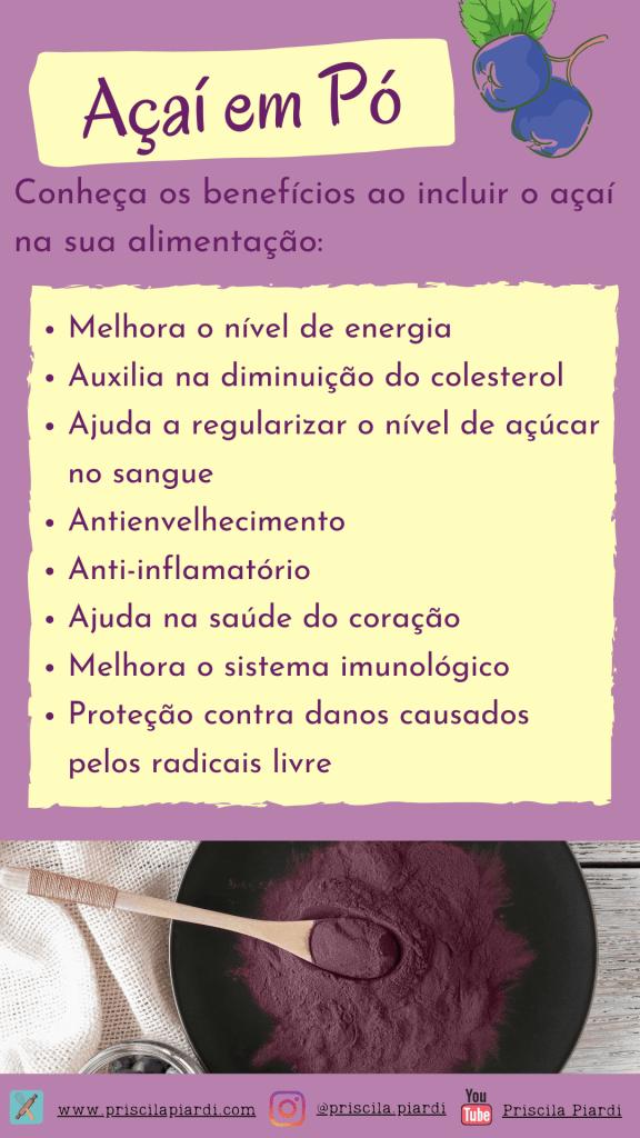 Benefícios do açaí