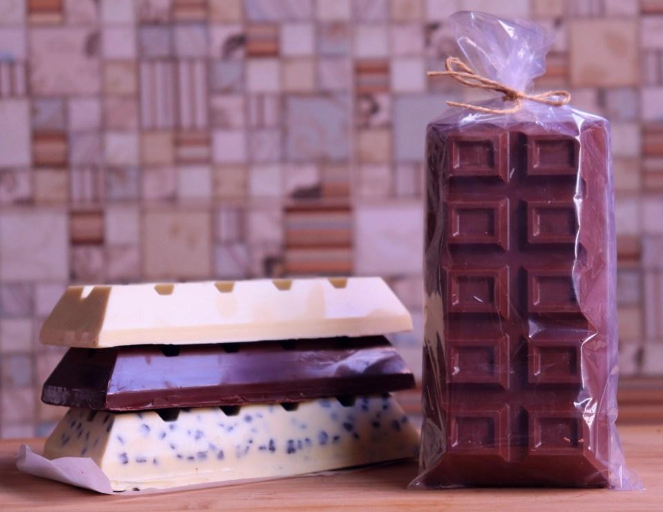imagem barras de chocolate embaladas