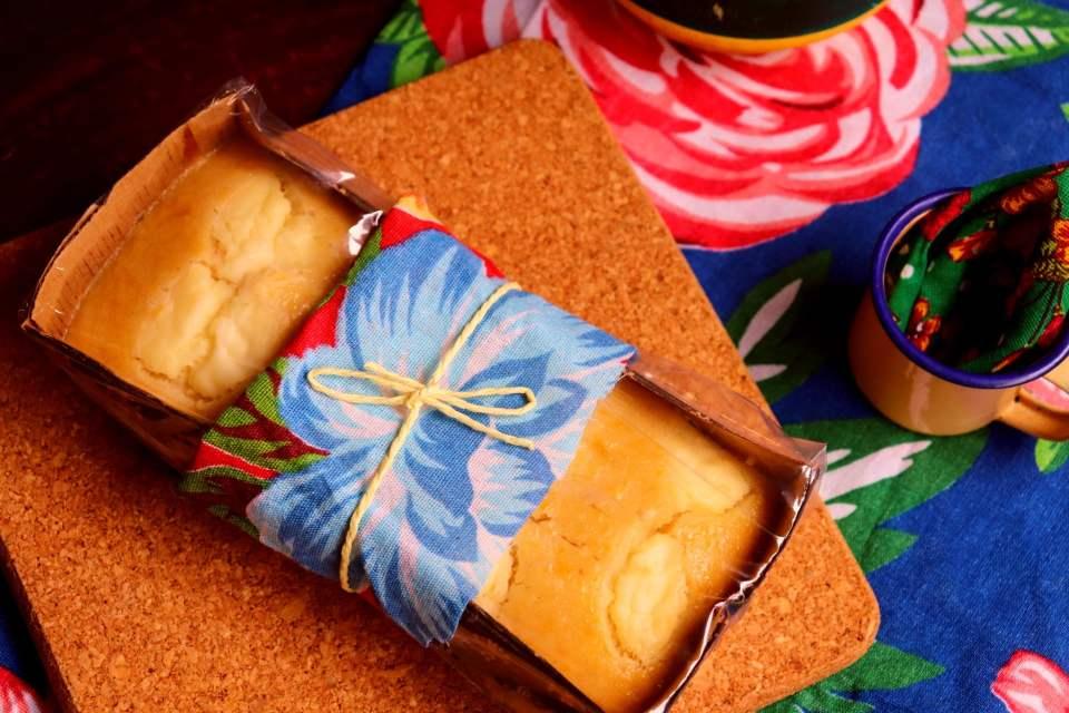 imagem embalagem bolo de milho com requeijão para vender