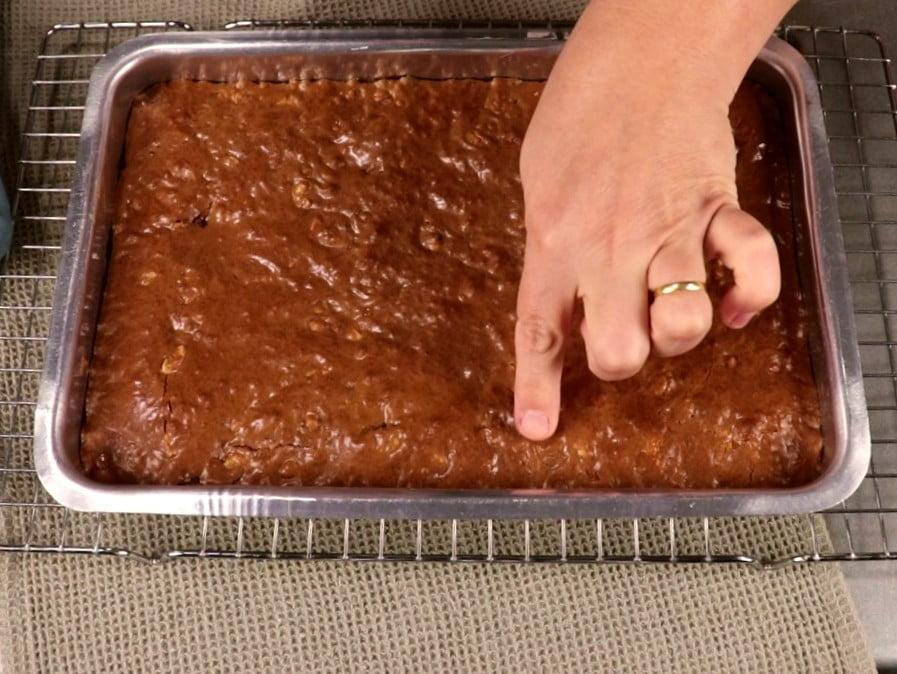 ponto certo do brownie