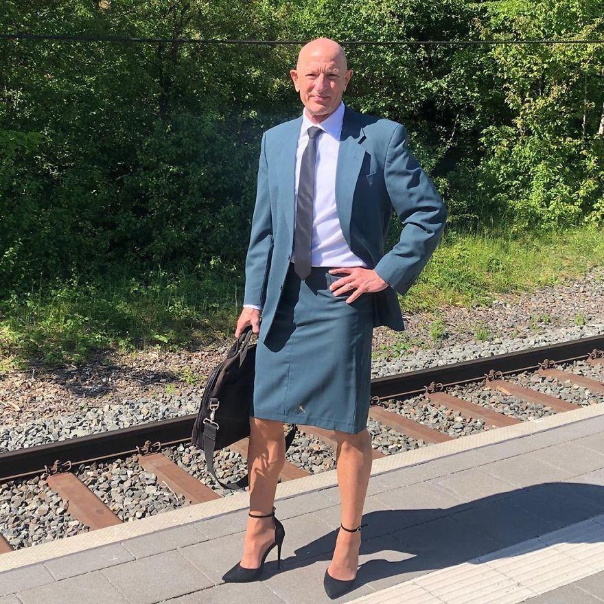 Mark Bryan: El hombre que busca romper estereotipos usando falda y tacones
