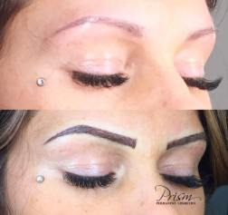 cover up of previously tattooed eyebrows (not by prism) before and after