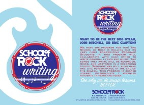 School of Rock Writing - logo development and collateral