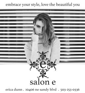 Salon E advertisement