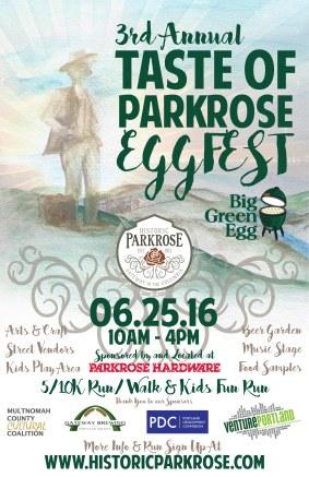 Taste of Parkrose Poster - watercolor paint & digital rendering