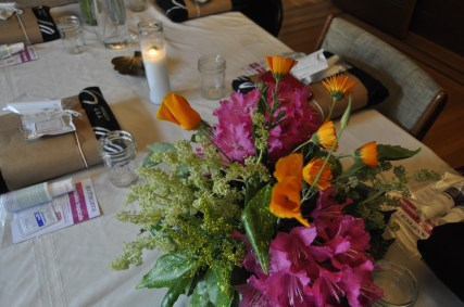 """""""Dope Dames"""" tablescape with swag from Swell Provisions"""