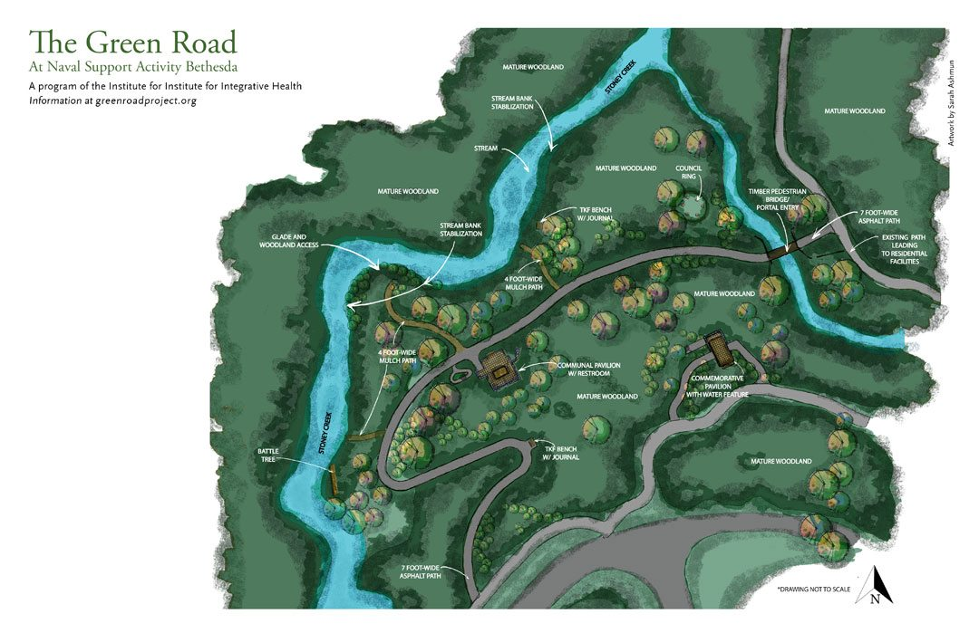 The site plan for The Green Road. Courtesy of The Institute for Integrative Health