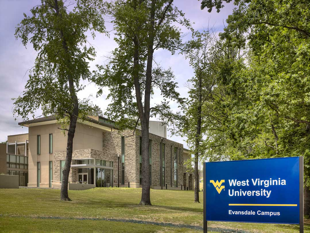 The Art Museum of West Virginia University on the Evansdale Campus was designed to house the university's art collection, which includes over 3,000 objects from Africa and Asia, as well as art from West Virginia, the region, and the United States. Courtesy of Sto Corp.