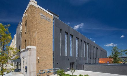 Biomedical research facility fuses modern with historic