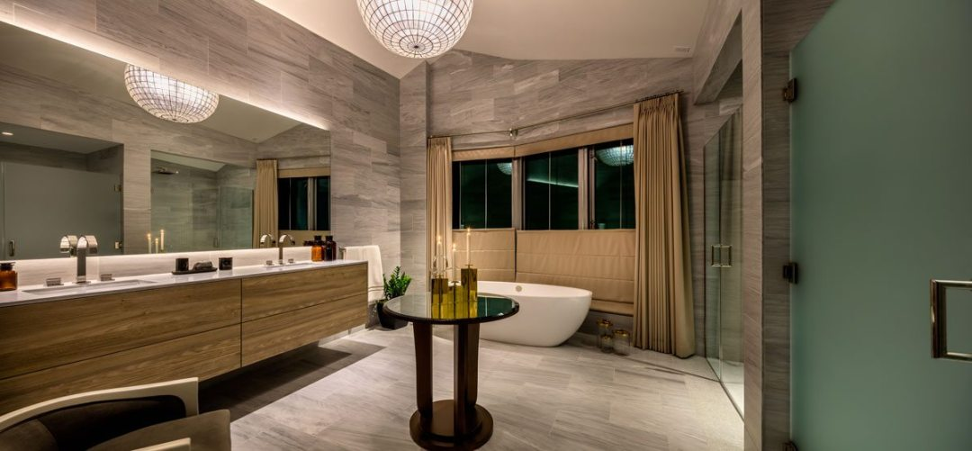 Exquisite master bathroom at the Pacific. Courtesy of Christopher Mayer Photography