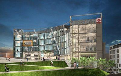 Pond | Michael Baker International JV Team's innovative 'JAXIS' design selected for new Jacksonville regional transportation center