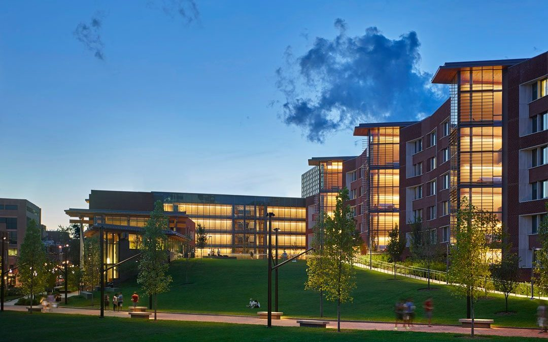 University of Pennsylvania's New College House features glass fabricated by J.E. Berkowitz