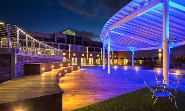 EXTECH provides Delaware Tech with translucent courtyard canopy