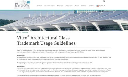 Vitro Architectural Glass adds online trademark and logo usage guidelines