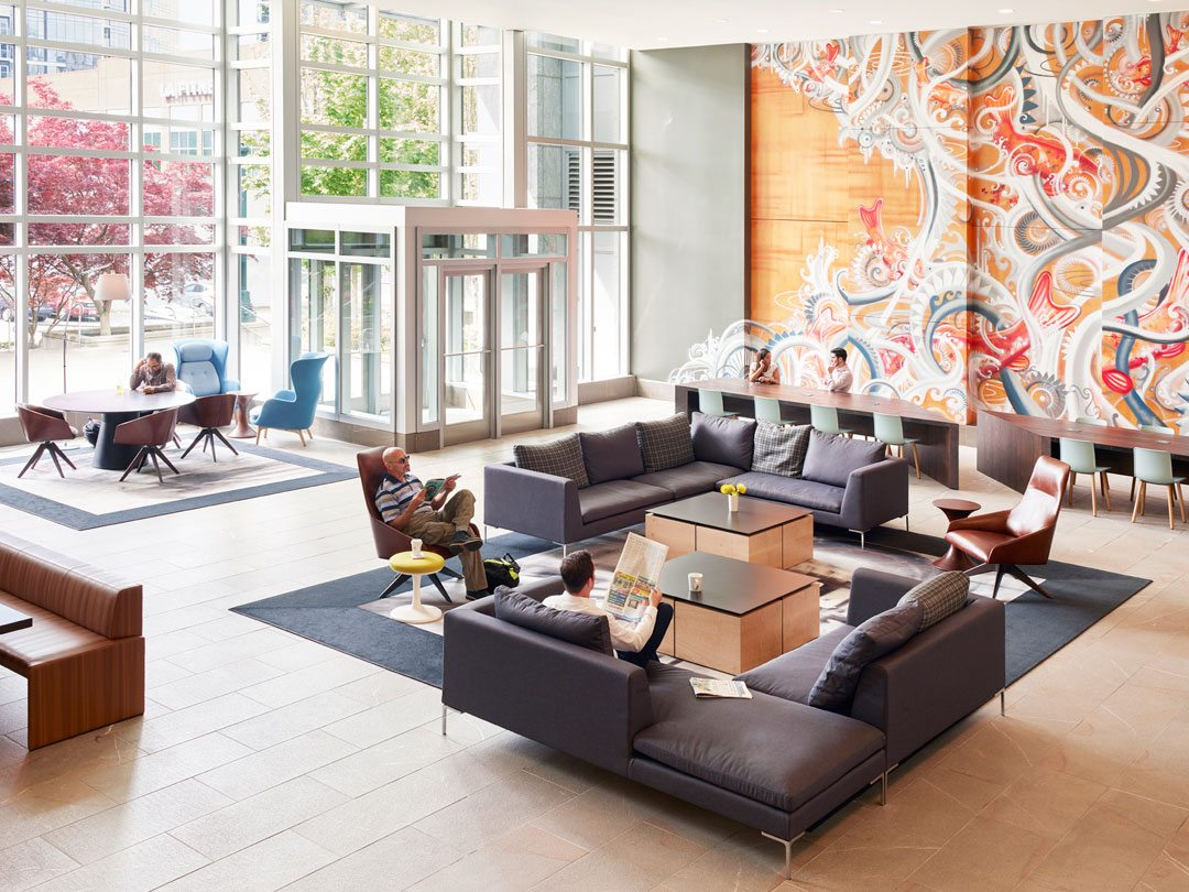 Key Center Lobby Reposition, Bellevue, Wash. Photo: Spencer Lowell