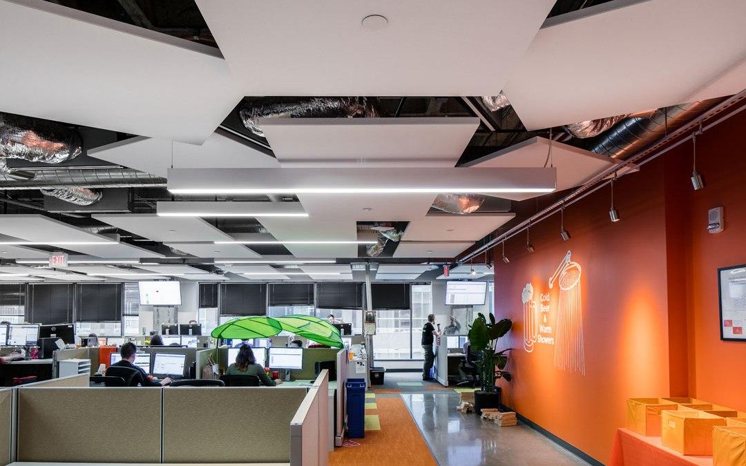 Rockfon's ceiling systems enhance acoustics and aesthetics for Solar Spectrum's office design