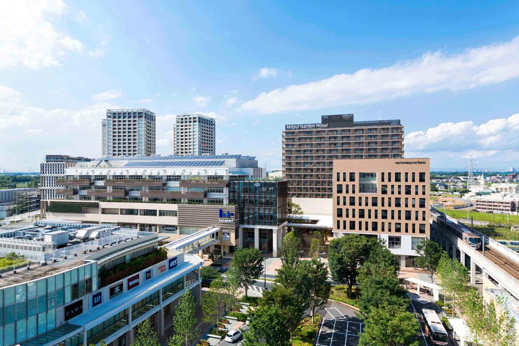 Core development of Kashiwano-ha Smart City. Photo by Mitsui Fudosan Co., Ltd.