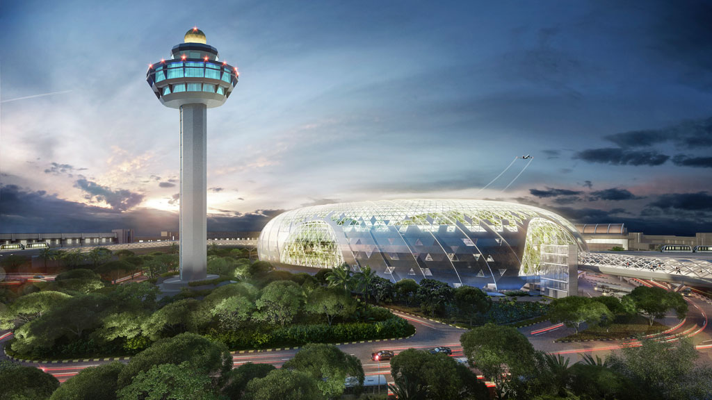 The new icon of Changi Airport. Courtesy of Jewel Changi Airport Development