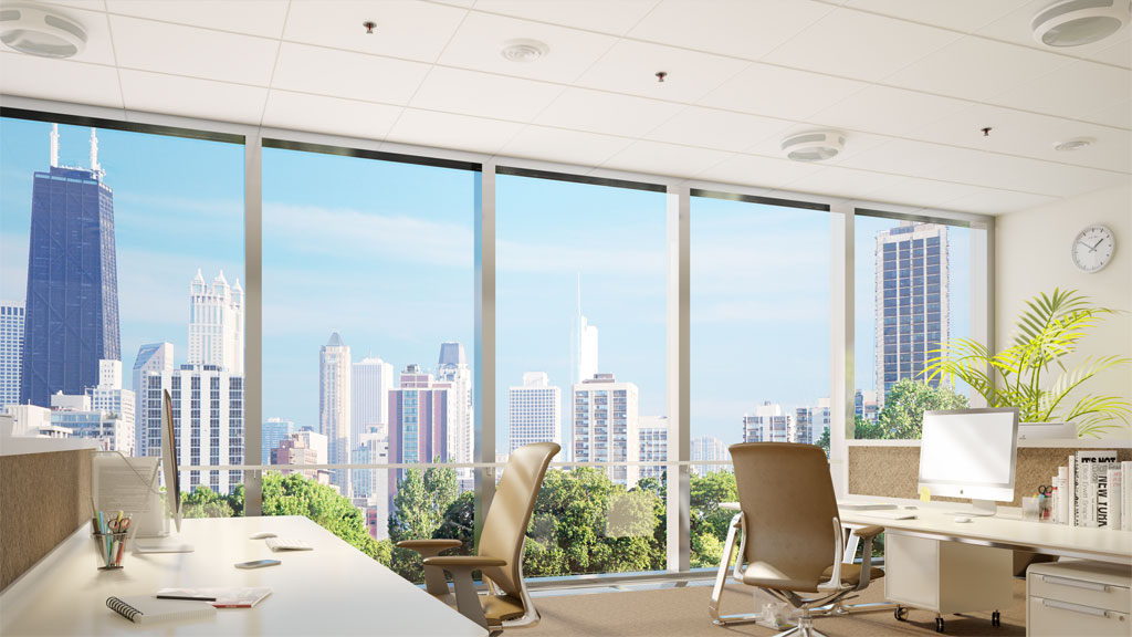 Office hi-rise before. Credit: Kinestral Technologies