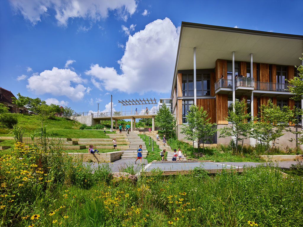The Frick Environmental Center in Pittsburgh is the first Living Building in the U.S. that is municipally owned and free and open to the public. Photo Credit: Ed Massery
