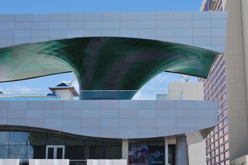 The LINQ; Las Vegas. Photo credit: Alpolic