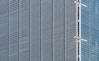 Add movement to exteriors and wall designs with EXTECH's KINETICWALL Dynamic Façade flapper-panel system