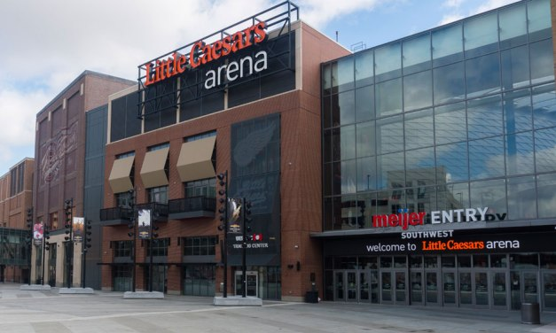 Little Caesars Arena meets aesthetic, sustainability, security goals with Tubelite's curtainwall, storefront, entrance systems