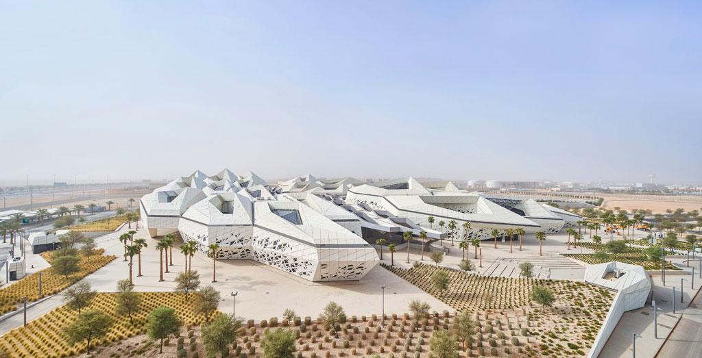 King Abdullah Petroleum Studies and Research Centre (KAPSARC) by Zaha Hadid Architects located in Riyadh, Saudi Arabia. Photo credit: © Hufton + Crow