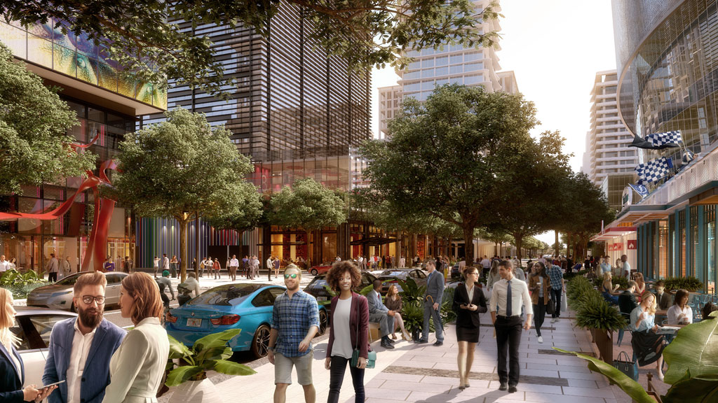 East view of Channelside Drive. Rendering courtesy of Interface Multimedia www.ifmm.com