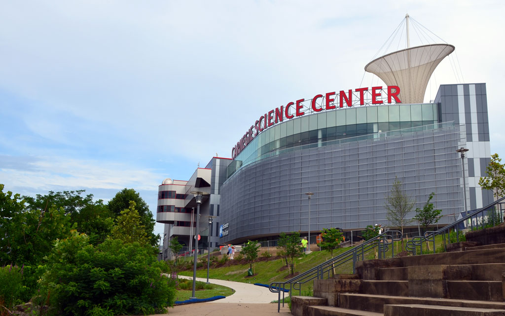 Carnegie Science Center's PPG Science Pavilion, Pittsburgh. Courtesy of the Carnegie Science Center