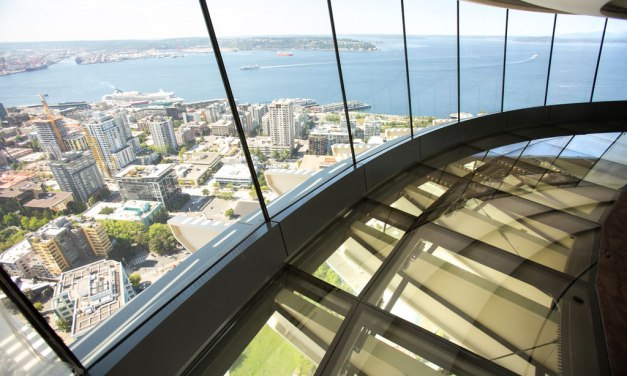A room with a view: Seattle's Space Needle's revolving glass floor