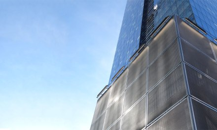 Woven wire mesh complements the Delta Hotel in Toronto, Canada