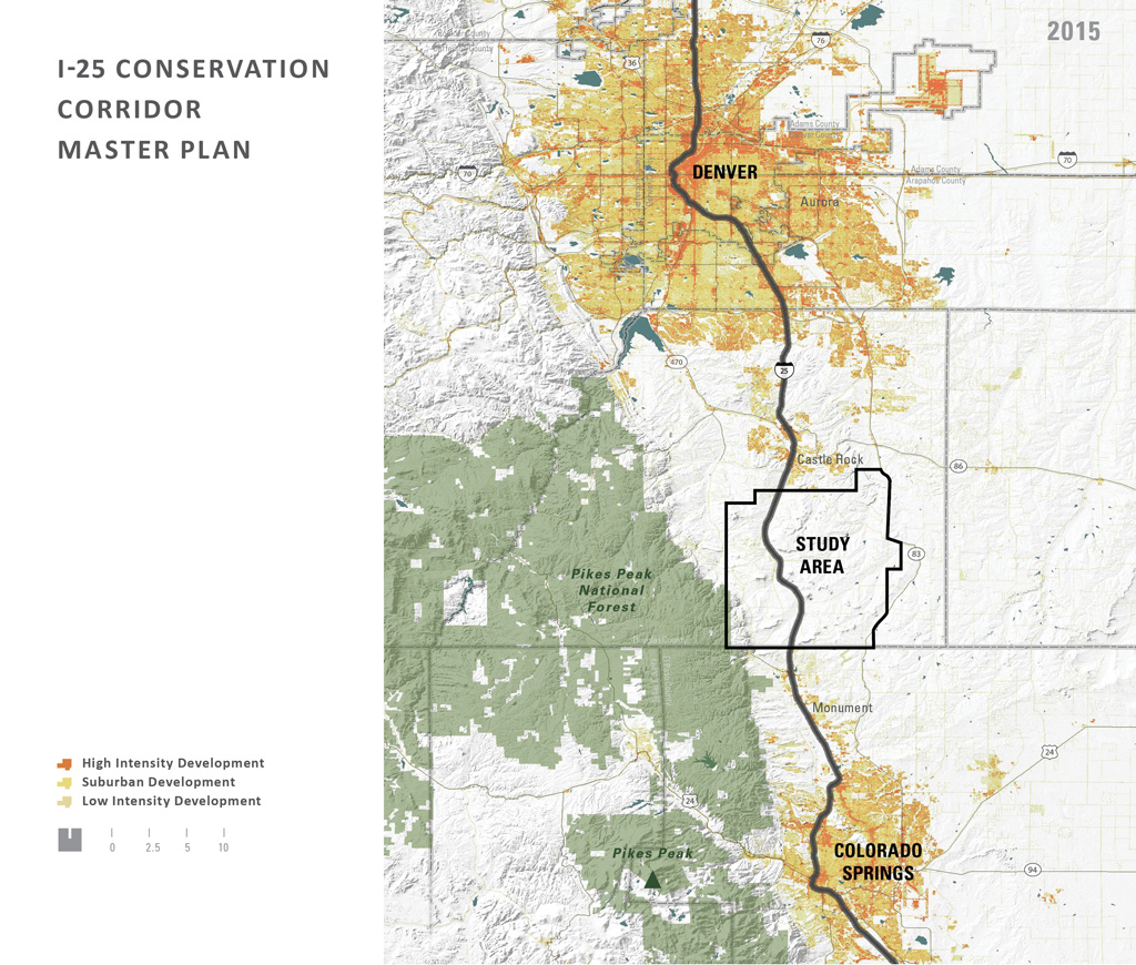 ASLA 2018 Award of Excellence, Analysis and Planning Category. A Colorado Legacy: I-25 Conservation Corridor Master Plan by Design Workshop (Aspen, Colorado) for The Conservation Fund. Credit: Design Workshop, Inc.