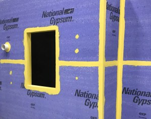 Sto RapidGuard is a single-component, multi-use air barrier and waterproofing material that seals rough openings, seams, sheathing joints, cracks, penetrations, and transitions in above-grade wall construction.