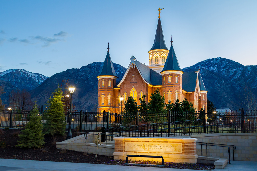 Provo City Center Temple – Provo, Utah, United States. Owner: The Church of Jesus Christ of Latter-day Saints; Architectural Firm: FFKR Architects; Engineering Firm: Reaveley Engineers; General and Concrete Contractor: Jacobsen Construction Company, Inc.; and Concrete Supplier: Jack B. Parson Companies. Credit: American Concrete Institute
