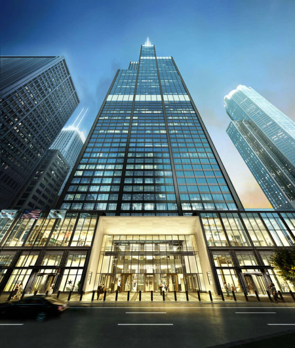 Rendering of the Willis Tower. Credit: © EQ Office/Blackstone. Courtesy of Gensler
