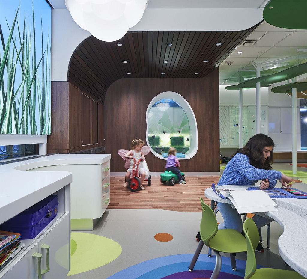 """When designing a children's space, """"don't just focus on technology. When designing for kids, we often tend to look at new technologies, such as interactive screens. But with this project, the focus was on play,"""" said Olivera Sipka of the Women's Auxiliary Volunteers (WAV) PlayPark at SickKids Hospital project in Toronto. Photo credit: Richard Johnson"""