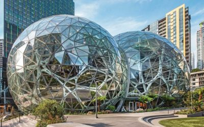 """Amazon Spheres with Vitro Architectural Glass selected as """"Best of  Design Award"""" winner by Architects' Newspaper"""