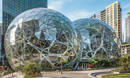 "Amazon Spheres with Vitro Architectural Glass selected as ""Best of  Design Award"" winner by Architects' Newspaper"